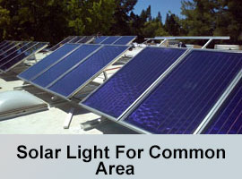 Solar light backup system for common area.